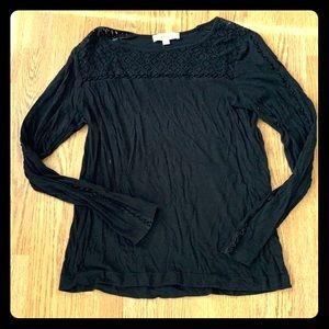✨Loft Black Long Sleeve Knit T'